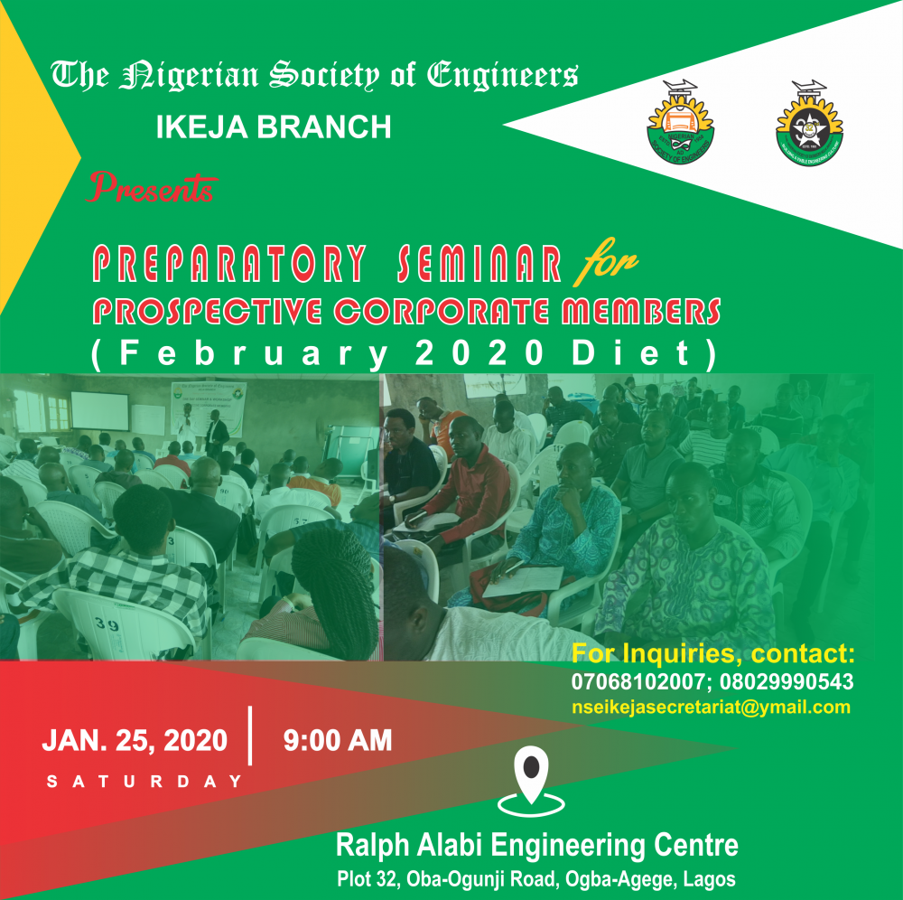 PREPARATORY SEMINAR FOR PROSPECTIVE CORPORATE MEMBERS:  February 2020 Diet Candidates